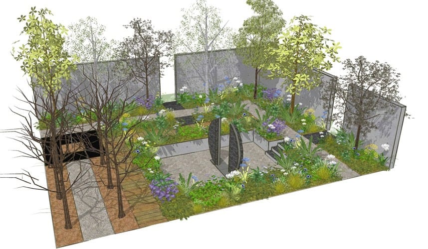 Chelsea flower show 2013 designs for the 15 show gardens for Chelsea flower show garden designs