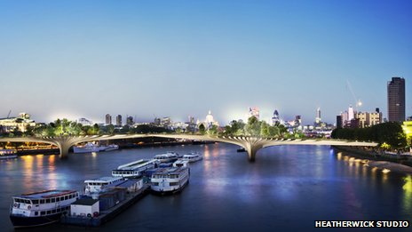 Garden Bridge Plans London