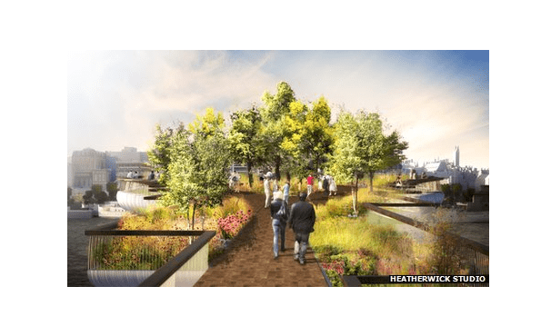 Olympics Thomas Heatherwick designs London garden bridge Pro