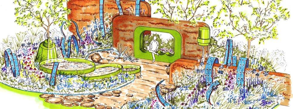 Ecover showcases sustainable plastics in garden design