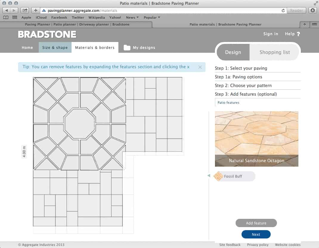 Bradstone launches innovative paving planner pro for Paving planner