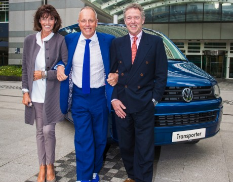 Mike Shackleton (right) and Nicky Gregory have  won a month of business mentoring with Simon Woodroffe, thanks to Volkswagen Commercial Vehicles