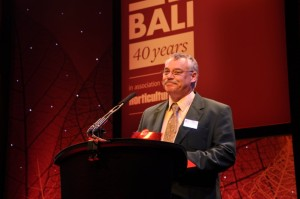Howard Wood, Director of Landscape and Environmental Services Ltd at the BALI Landscape Awards