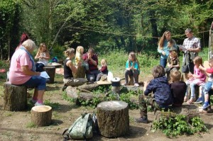 Woodland craft activities at Ten Acre Wood photo by Derek Brain