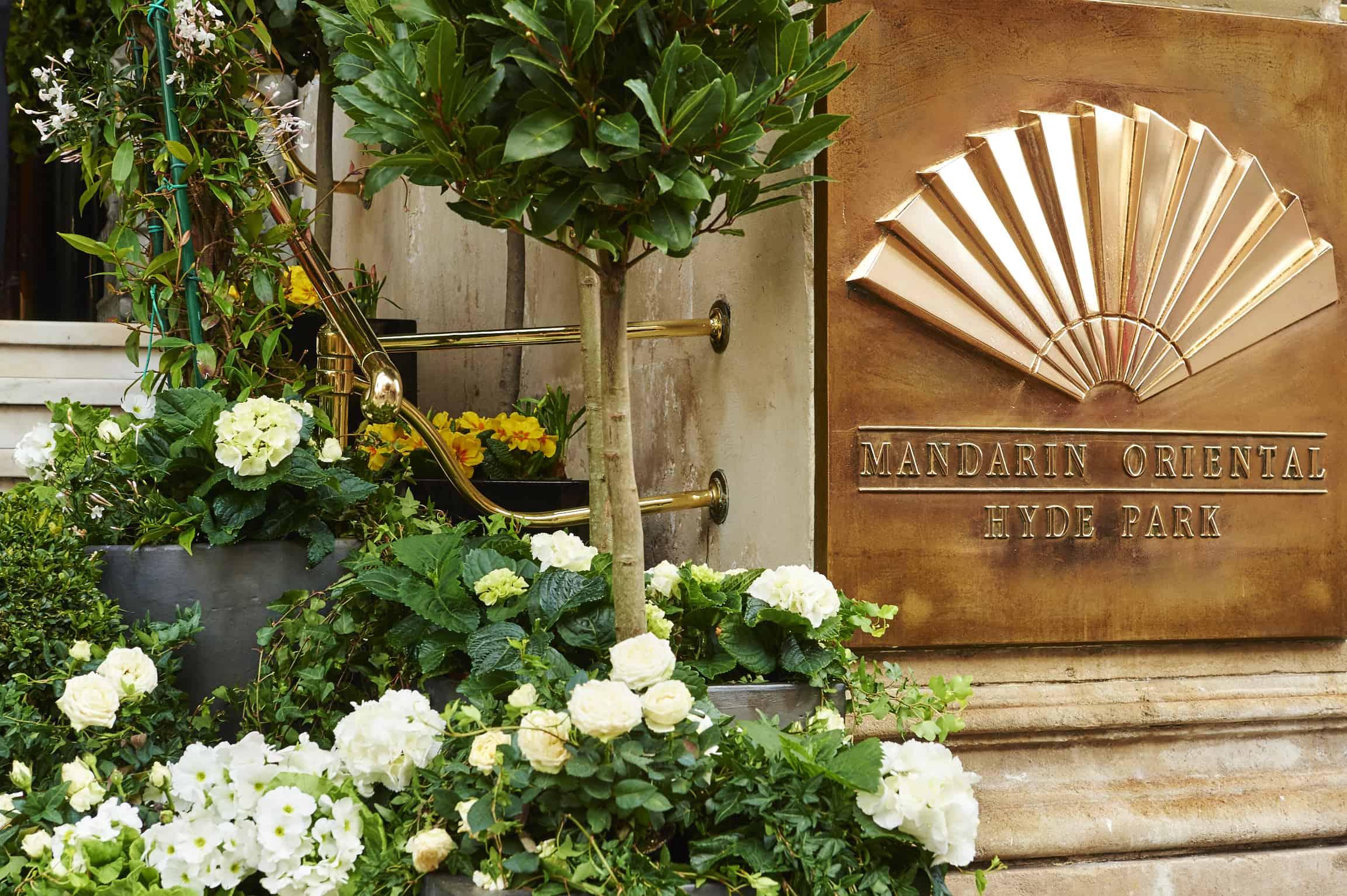 Mandarin Oriental inspired afternoon tea with Indoor Garden Design