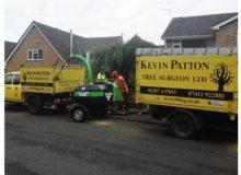 Kevin Patton Tree Surgeon Ltd using their new GreenMech sub 750kg QuadChip 160