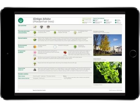 A sample of the new digital document 'Species Selection for Green Infrastructure: A Guide for Specifiers'.